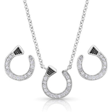 Montana Silversmiths Star Lights Horseshoe Nail Jewelry Set
