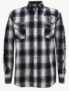 Men's Jack Daniel's Long Sleeve Shirt 15203937JD-89 Black/White