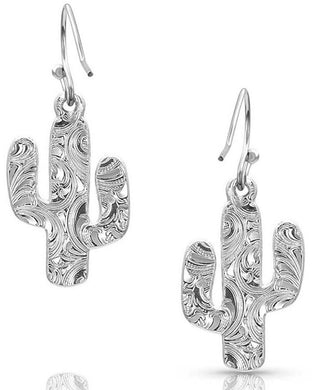 Montana Silversmiths Desert Full Moon Cactus Earrings