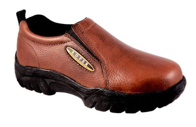 Men's Roper Performance Slip-On Bay Brown Tumbled Leather Shoe