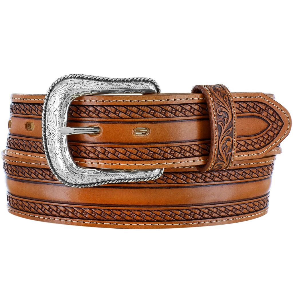 Men's Tony Lama Wild Bill Brown Belt