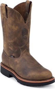 Men's Justin Blueprint Pullon Tan Gaucho Work Boot