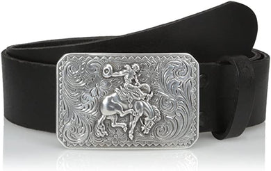 Men's Nocona Black Bronc Buckle Belt