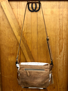 Women's Myra Multi-Hide Black & Brown Purse