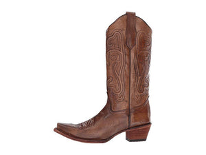 Women's Corral Brown Corded Embroidered Boots