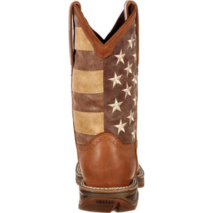 Men's Durango Rebel Faded Union Flag Boot
