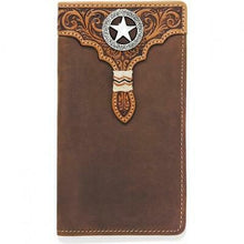 Load image into Gallery viewer, Silver Creek Lone Star Checkbook Wallet