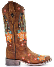Load image into Gallery viewer, Women's Corral Honey Cactus Inlay Boots