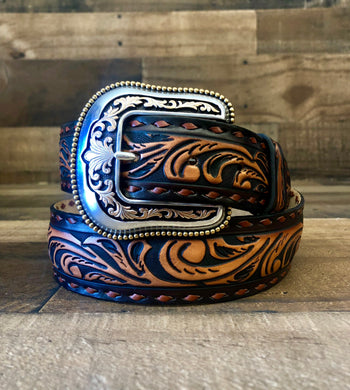 Men's Justin Brown Ol' Lariat Belt