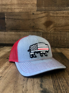 Red Dirt Hat Co Thin Red Line Buffalo Cap