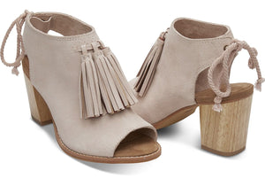 Women's Tom's Elba Blush Suede Tassel Booties