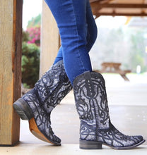 Load image into Gallery viewer, Women's Corral Black Glittered Inlay Boots
