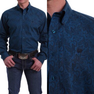 Men's Cinch Paisley Print Shirt