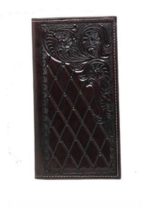 3D Belt Co Tooled Leather Rodeo Wallet