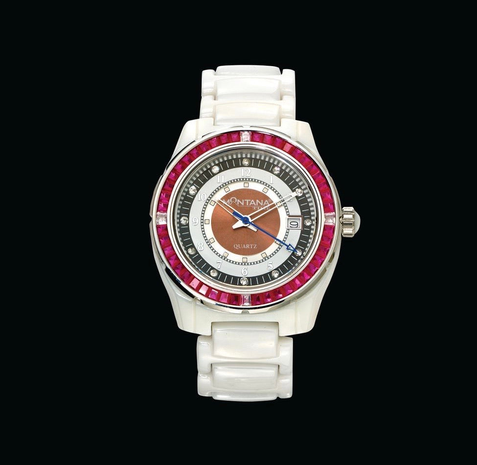 Montana Silversmiths White Ceramic Analog Watch