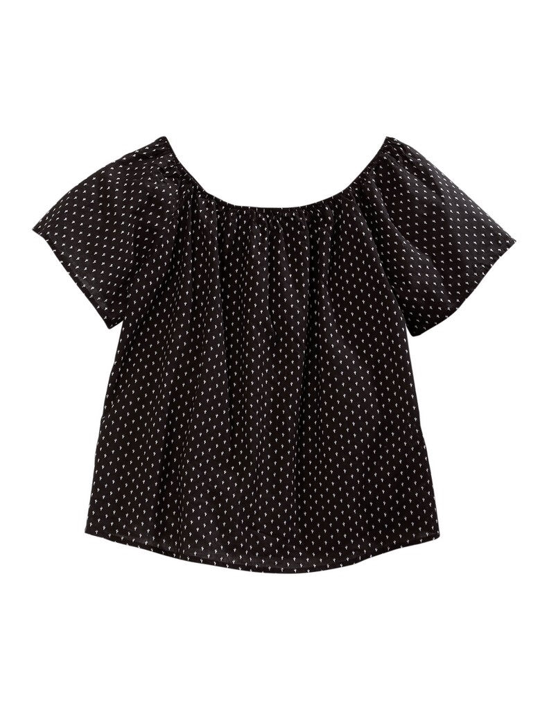 Women's Tin Haul Black Cactus Blouse