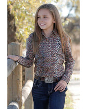 Load image into Gallery viewer, Girl's Cruel Girl Cheetah Print Long Sleeve Shirt