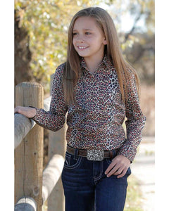 Girl's Cruel Girl Cheetah Print Long Sleeve Shirt