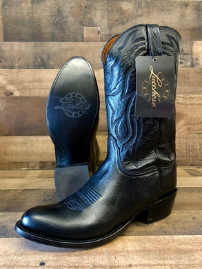 Men's Lucchese Black Lone Star Calf Cowboy Boots