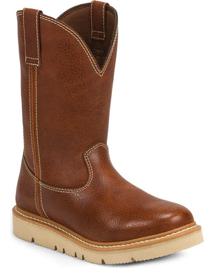 Men's Justin Jacknife Pullon Tan Action Work Boot