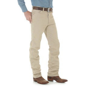 Men's Wrangler Tan Cowboy Cut Slim Fit Jeans