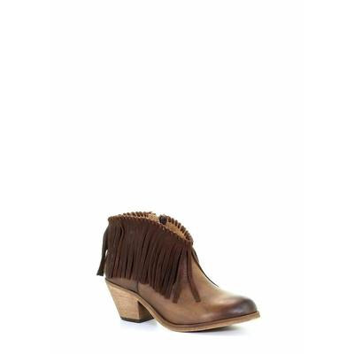 Women's Circle G by Corral Western Tobacco Fringe Booties