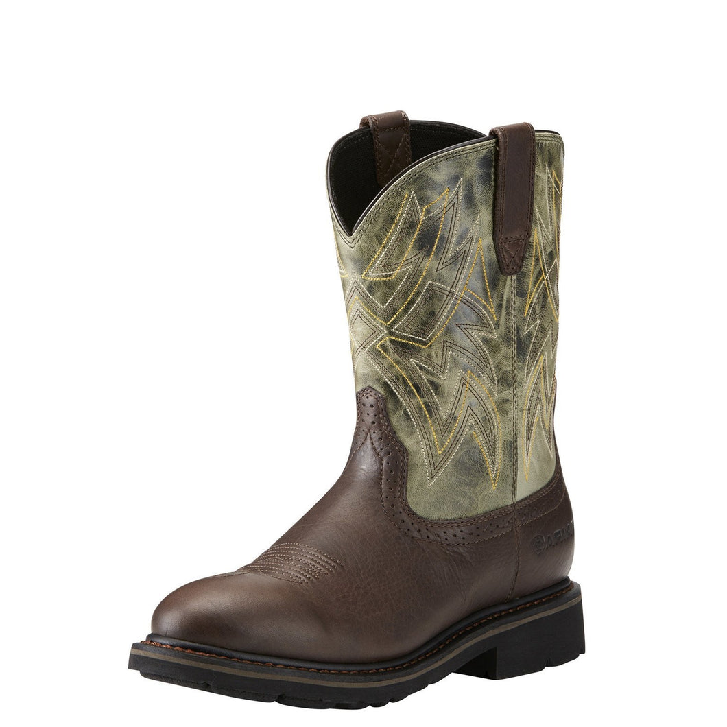 Men's Ariat Everett Dark Chocolate & Sage Work Boots