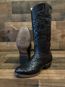 Women's Stetson Dark Brown Woven Boots