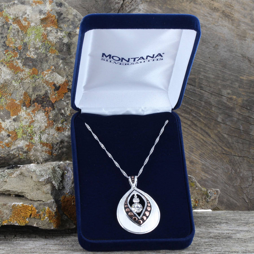 Montana Silversmiths Two-Toned Flowering Bud Necklace