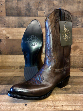 Men's Lucchese Antique Walnut Lone Star Calf J-Toe Boots