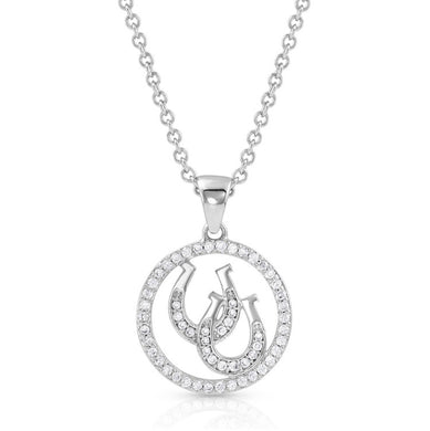 Montana Silversmiths Lucky Horseshoe Pendant Necklace