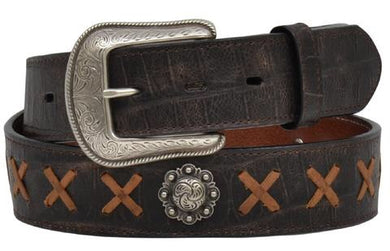 Men's 3D Belt Co Chocolate Caiman Print Belt