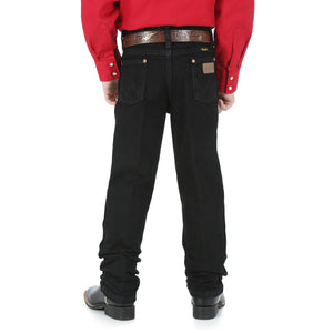 Boy's Wrangler Black Cowboy Cut Original Fit Jeans (Sizes 1-7)