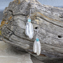 Load image into Gallery viewer, Montana Silversmiths Gift of Freedom Feather Earrings