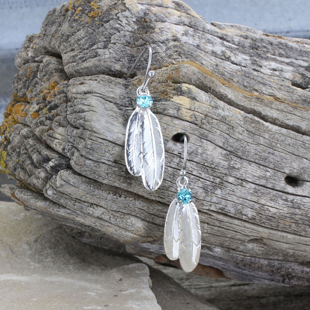 Montana Silversmiths Gift of Freedom Feather Earrings