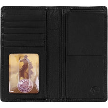 Load image into Gallery viewer, Silver Creek Ostrich Print Checkbook Wallet