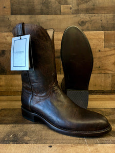 Men's Lucchese Chocolate Madras Goat Boots