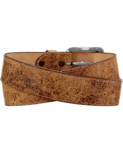 Men's Justin Tailgunner Distressed Tan Belt