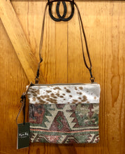 Load image into Gallery viewer, Myra Tribal Print & Hide Purse