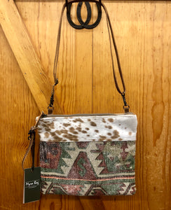 Myra Tribal Print & Hide Purse