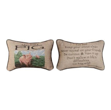 Advice From a Pig Reversible Pillow
