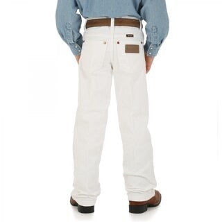 Youth Wrangler White Cowboy Cut Original Fit Jeans (Sizes 8-16)