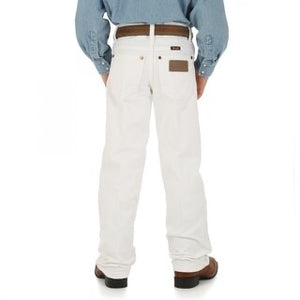 Youth Wrangler 13MWBWI White Jeans