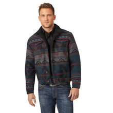 Load image into Gallery viewer, Men's Wrangler Sherpa Lined Jacquard Print Jacket