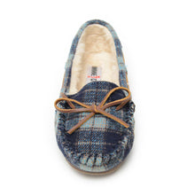 Load image into Gallery viewer, Women's Minnetonka Plaid Cally Navy Moccasins