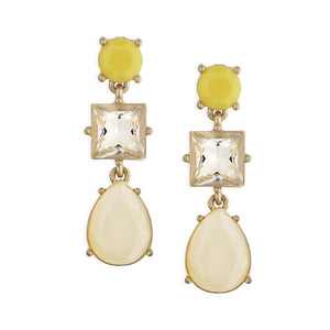 3 Stone Envy Chandelier Earrings