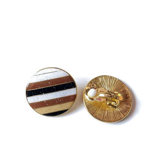 Stripes Clip-On Earrings
