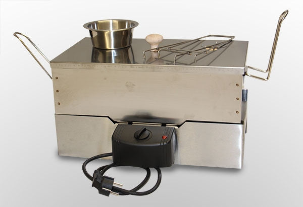 portable electric fish and meat smoker. stainless steel