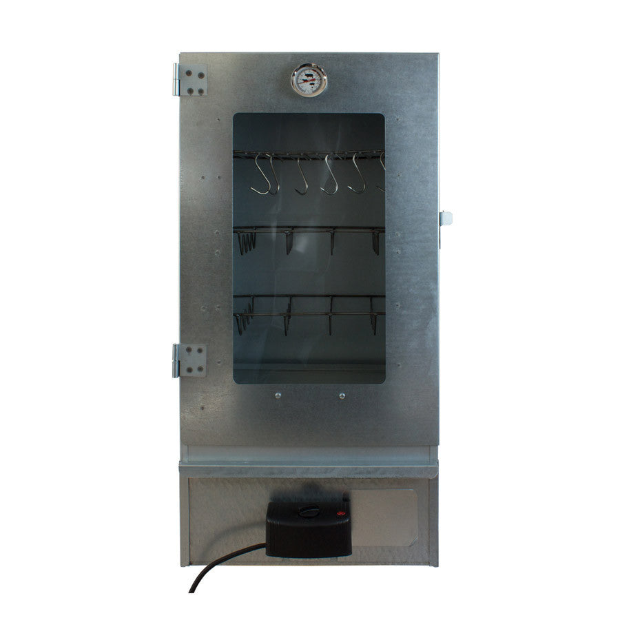 Electric smoker with thermometer