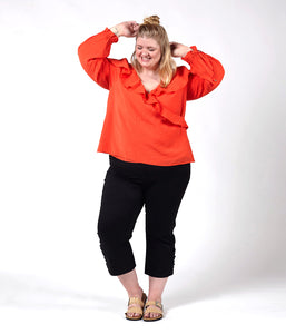 Favie Curvy Fashion Elvi Wickelbluse Vorderansicht